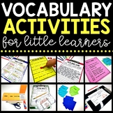 Vocabulary Activities (use with any list!)   Printable & Digital Included