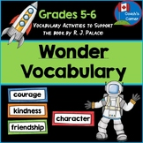 Vocabulary Activities for Wonder by R.J. Palacio