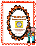 Tier 2 / 3 Vocabulary -- Student Ownership and Transfer of Skills Activities