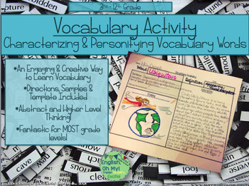 Vocabulary Activity-Characterizing and Personifying Vocabulary