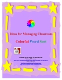 Vocabulary Activity - Colorful Word Sort