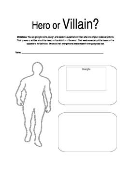 Vocabulary Activity: Hero or Villain?