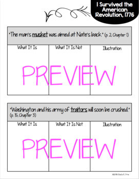Student Vocab Book, Quiz, & Word Wall Cards - I Survived the Am. Revolution,1776