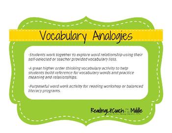 Vocabulary Activity - Making Analogies