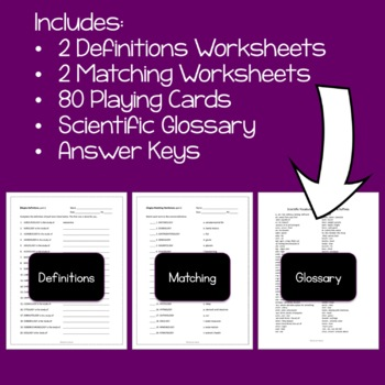 Vocabulary Activity: Ologies - Science Vocabulary Game