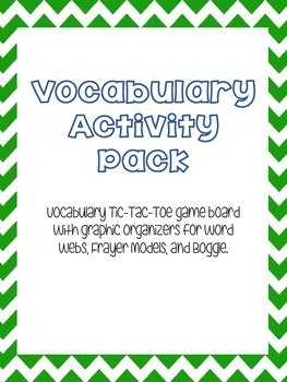 Vocabulary Activity Pack
