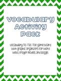 Vocabulary Activity Pack