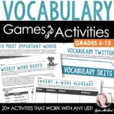 Vocabulary Activity Pack: 20+ Games, Printables & More (Common Core Aligned)