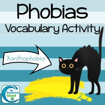 Phobias - Science Vocabulary Activity