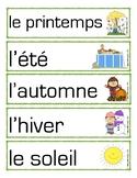 Vocabulary Activity- Seasons/Activité de vocabulaire- Les saisons (FRENCH)