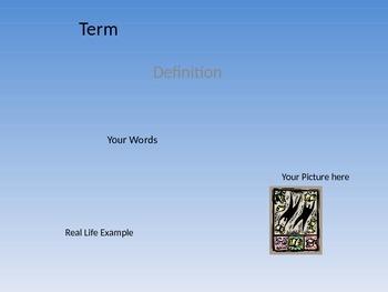 Vocabulary Activity Template