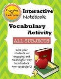 Vocabulary Activity That is MEANINGFUL for Interactive Notebooks