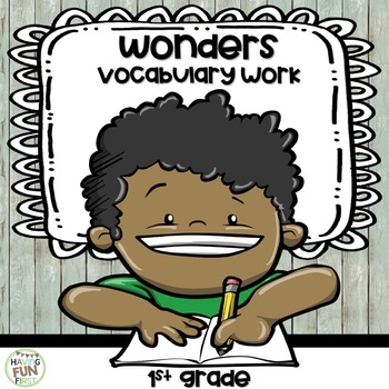 Vocabulary Activity for 1st Grade Wonders