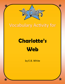 """Vocabulary Activity for """"Charlotte's Web"""" by E. B. White"""