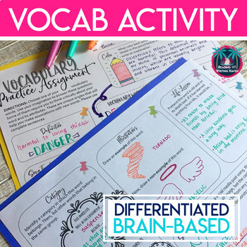 Vocabulary Activity for Extra Practice: Compatible with Most Word Lists