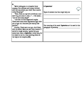 Vocabulary Activity for The Outsiders which aligns with the CCSS!