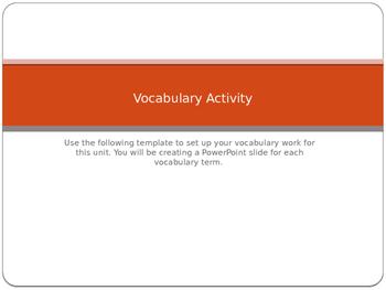 Vocabulary Activity_flexible for any unit.