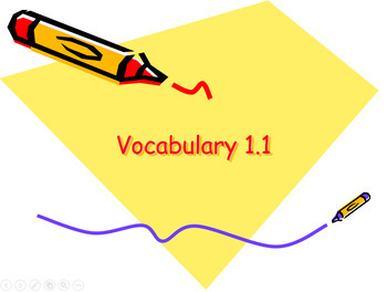 Vocabulary (Advanced Placement English Literature_First Semester)