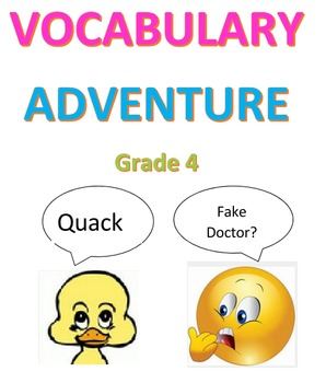 Vocabulary Adventure  -- Grade 4