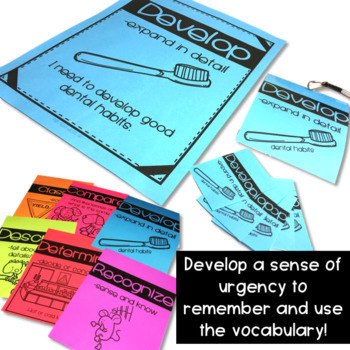 Vocabulary Anchor Charts, Brag Tags, Lanyard Badges