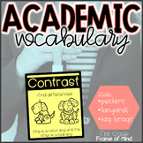 Academic Vocabulary Cards with Pictures 3 Formats