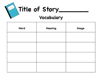 Vocabulary Anchor Charts and journals