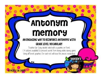 Vocabulary: Antonym Memory