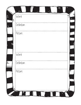 Vocabulary Assessment and Practice sheet