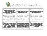 Vocabulary Assignment Board