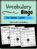 6th Grade Math Vocabulary BINGO (The Number System)