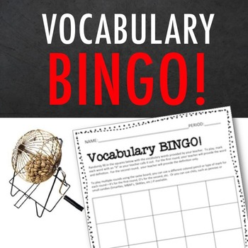 Vocabulary Bingo FREEBIE!—a FUN Word Review Favorite for A