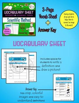 Vocabulary BUNDLE - Scientific Method {Vocab Sheet, Game, Word Wall}