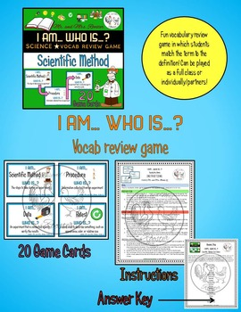 Vocabulary BUNDLE - Scientific Method {Vocab Sheet, Game, Word Wall}