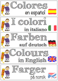 Vocabulary BUNDLE on colours (English, Italian, Spanish, German and Norwegian)
