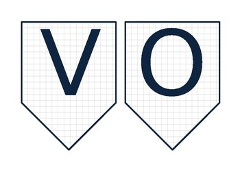 Vocabulary Banner (grey and navy)