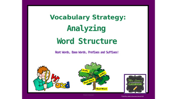 Vocabulary: Base Words, Root Words, Prefixes, & Suffixes