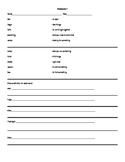 Vocabulary Baseline Sheets by grade