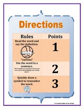 Vocabulary Basketball Literacy Center Game