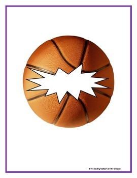 Vocabulary Basketball Literacy Center Game