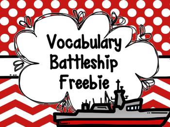 Vocabulary Battleship Freebie