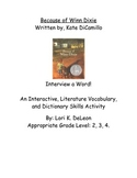 Vocabulary-Because of Winn Dixie-Interview a Word Activity