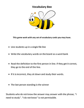 Vocabulary Bee