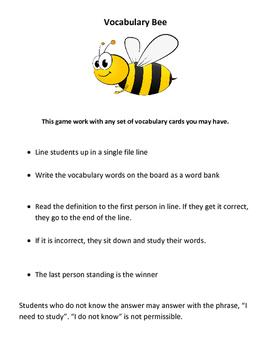 Vocabulary Bee