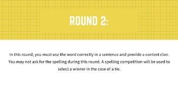 Vocabulary Bee PowerPoint