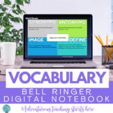 Vocabulary Bell Ringer Digital Interactive Notebook {Grades 7-12}