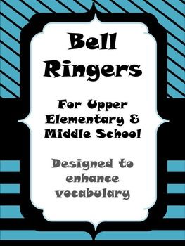 Vocabulary Bell Ringers -One Month