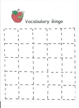 Vocabulary Bingo