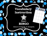 Vocabulary Bingo!  {Blank to Customize}