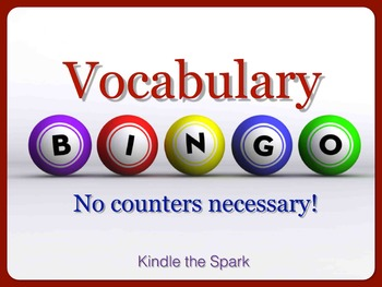Vocabulary Bingo-No Counters Necessary!