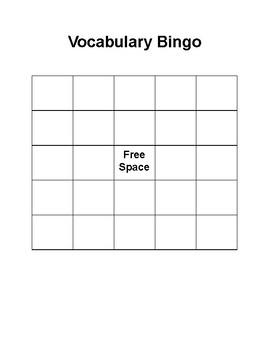 Vocabulary Bingo - Unit Rates, Percents, and Integers